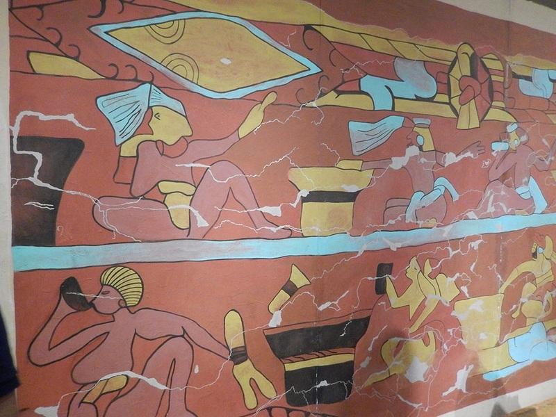 Side shot of Mural